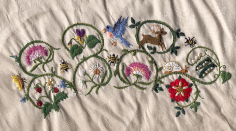 Embroidered Elizabethan Gloves By Barbary Rose Of Endless Hills